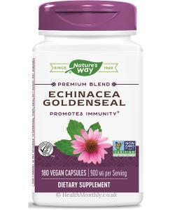 Nature's Way Echinacea Goldenseal (180 Vegetarian Capsules)