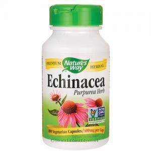Nature's Way Echinacea Purpurea Herb (400mg, 100 Vegetarian Capsules)