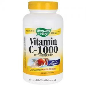 Nature's Way Vitamin C 1000 (with Rose Hips, 250 Capsules)