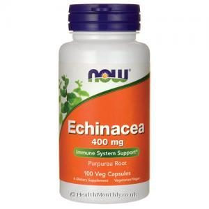 Now Foods Echinacea (400mg, 100 Vegetarian Capsules)