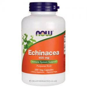 Now Foods Echinacea (400mg, 250 Vegetarian Capsules)