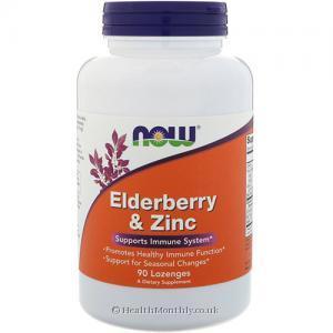 Now Foods Elderberry and Zinc (90 Lozenges)