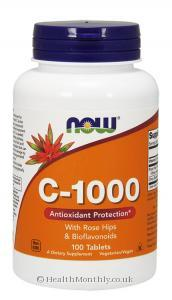 Now Foods Vitamin C-1000 (with Rose Hips & Bioflavonoids, 100 Tablets)