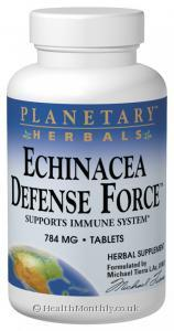 Planetary Herbals Echinacea Defense Force™ (784mg, 90 Tablets)