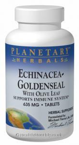 Planetary Herbals Echinacea-Goldenseal (Olive Leaf, 635mg, 60 Tablets)