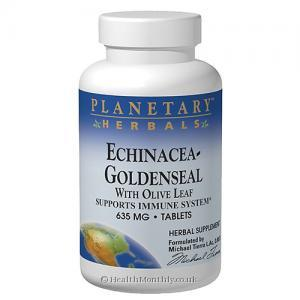 Planetary Herbals Echinacea-Goldenseal With Olive Leaf (635mg, 30 Tablets)