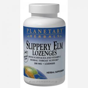 Planetary Herbals Slippery Elm Lozenges with Echinacea (200mg, 24 Lozenges)