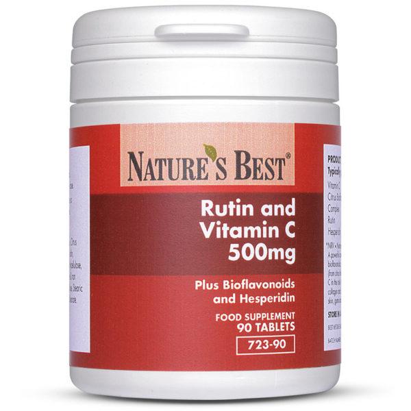Rutin And Vitamin C 500Mg Plus Bioflavonoids + Hesperidin 90 Tablets