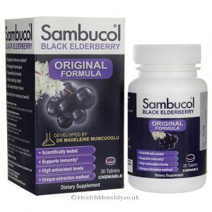 Sambucol Black Elderberry Original (30 Chewable Tablets)
