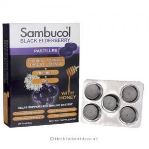 Sambucol Black Elderberry Pastilles (20 Lozenges)