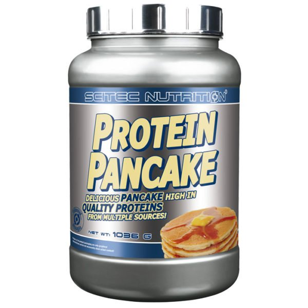 Scitec Nutrition Protein Pancake | 1036g | Unflavoured | Powder Protein Pancake Mix | Protein Desserts & Cooking Mixes | Simply Add Water, Mix & Heat