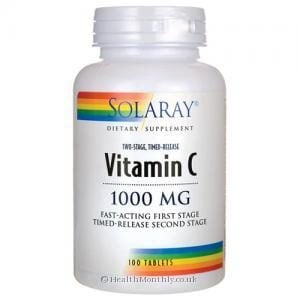Solaray Vitamin C (Two-Stage, Timed-Release, 1000mg, 100 Tablets)