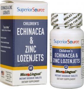 Superior Source Children's Echinacea & Zinc Lozenjets (60 MicroLingual® Instant Dissolve Tablets)