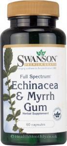 Swanson Full Spectrum Echinacea & Myrrh Gum (60 Capsules)