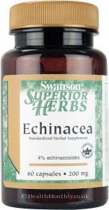 Swanson Superior Herbs Echinacea (200mg, 60 Capsules)