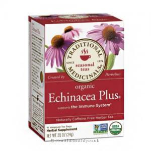Traditional Medicinals Organic Echinacea Plus Tea (24g, 16 Wrapped Tea Bags)