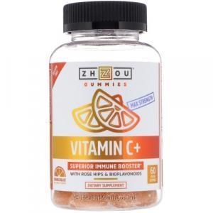 Zhou Max Strength Vitamin C+ Superior Immune Booster (60 Vegan Gummies)
