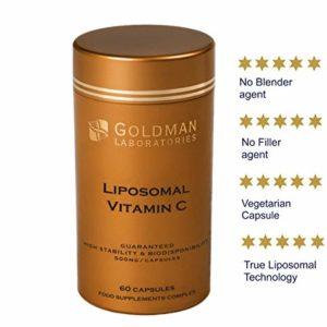 LIPOSOMAL Vitamin C 500mg - High Dose Vitamin C I Encapsulated for Maximum Bioavailability I 100% Non-GMO and Vegan Friendly I Slow Release I Vitamins and Supplements - 60 Vegetarian Capsules