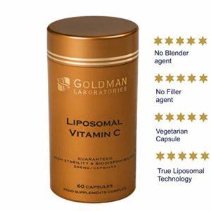LIPOSOMAL Vitamin C 500mg - High Dose Vitamin C I Encapsulated for Maximum Bioavailability I 100% Non-GMO and Vegan Friendly I Slow Release I Vitamins and Supplements - 60 Vegetarian Capsules