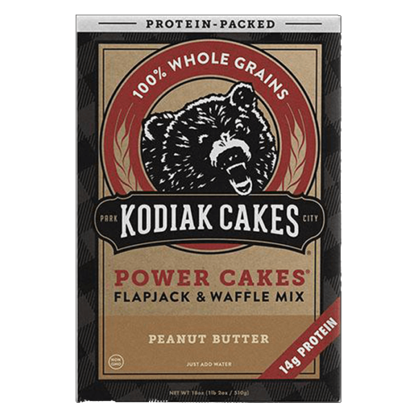 Kodiak Cakes Kodiak Power Cakes | Peanut Butter | Pre-Mixed Baking Mixes | Protein Desserts & Cooking Mixes | Easy To Make Baking Mix