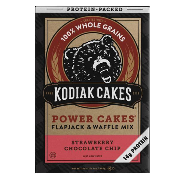 Kodiak Cakes Kodiak Power Cakes | Strawberry Chocolate Chip | Pre-Mixed Baking Mixes | Protein Desserts & Cooking Mixes | Easy To Make Baking Mix